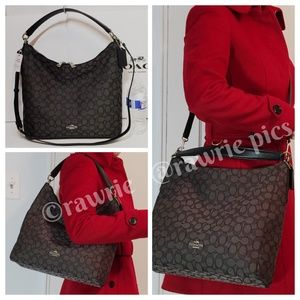 SALE New Coach signature shoulder hobo Crossbody